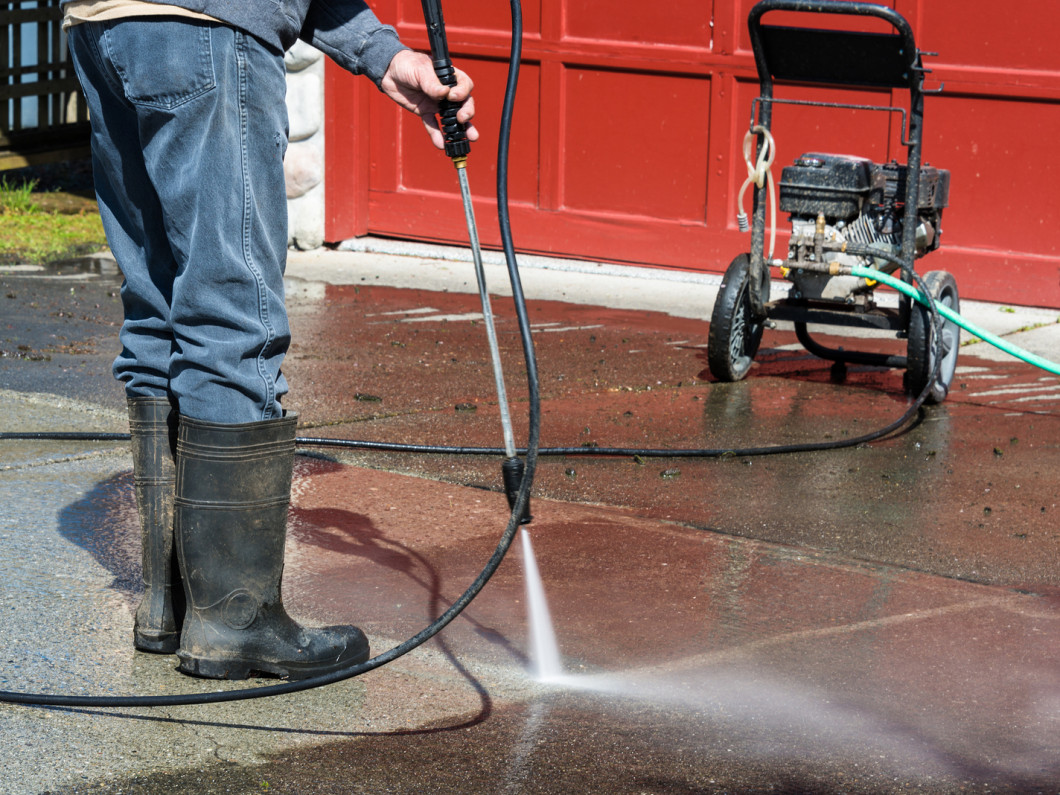 Don't overlook power washing before staining